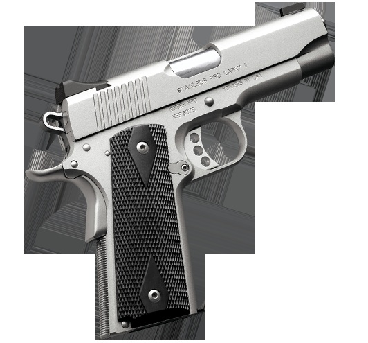 Kimber 1911 Stainless Pro Carry II - Ideal for carry or duty, a perfect combination of light weight and no-nonsense features.
