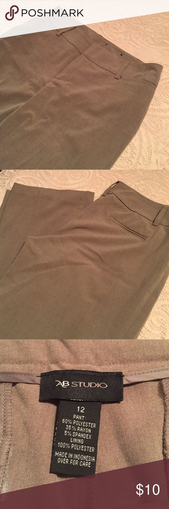AB Studio khaki slacks Only wore once! Great condition! Very flattering khaki slacks, perfect for work or interviews! AB Studio Pants Trousers