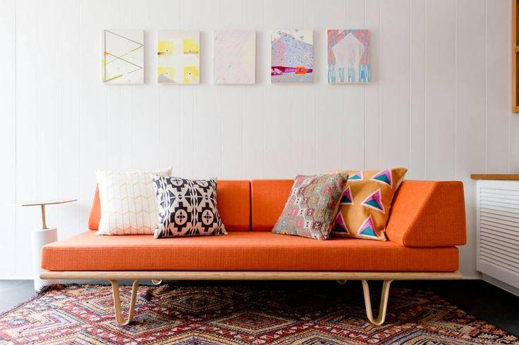 orange sofa !!