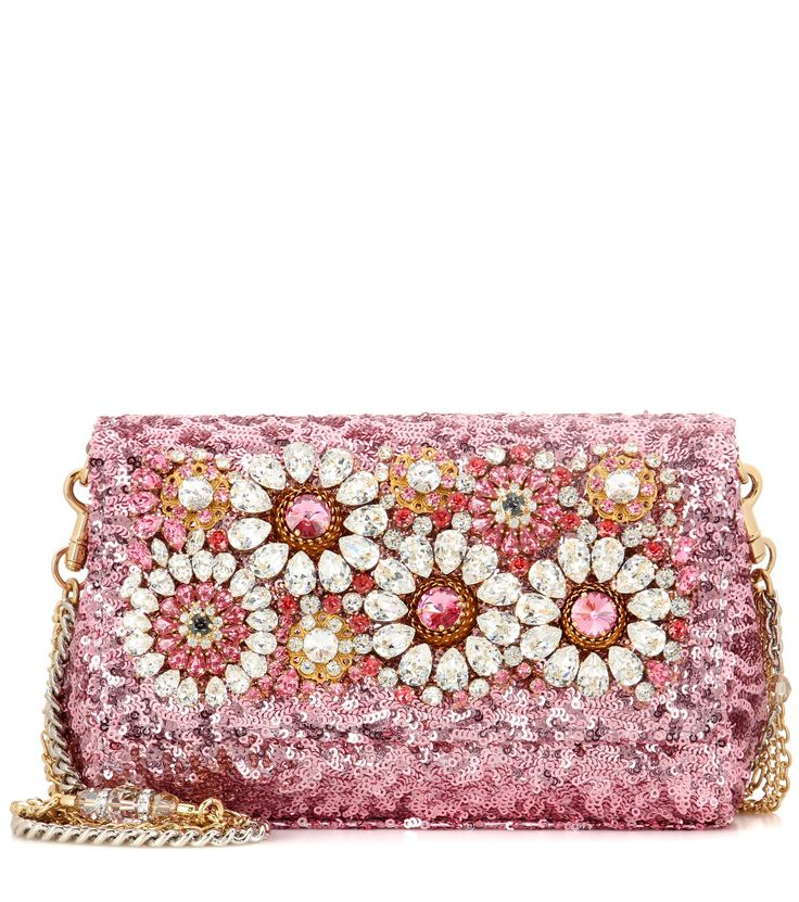 DOLCE & GABBANA Anna embellished shoulder bag