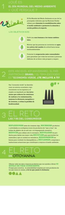 Infografía día Internacional del Medio Ambiente