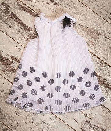 White plissé dress with black dots <3 #cutedress #babygirl #girlfashion