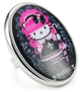 "Tarina Tarantino Hello Kitty ""Pink Head"" Gothic Mod Ring, Size 6.5 TARINA TARANTINO. $63.00. Made in USA"