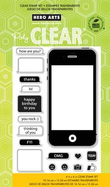 Hero Arts - Poly Clear - Clear Acrylic Stamps - LOL at Scrapbook.com