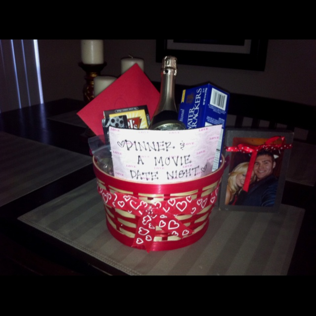 A Wedding Gift Movie : Valentines gift basket: dinner & a movie date night. Restaurant gift ...