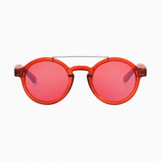 Gafas Grapefruit Metal Dalston with transparent red lenses