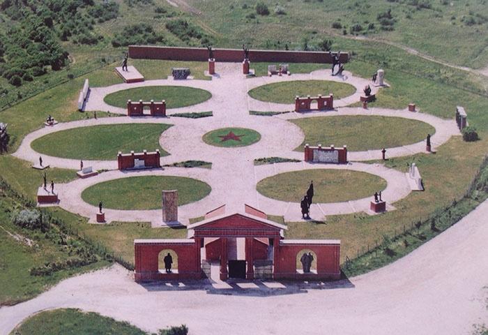 Memento Park outside the city center of Budapest...