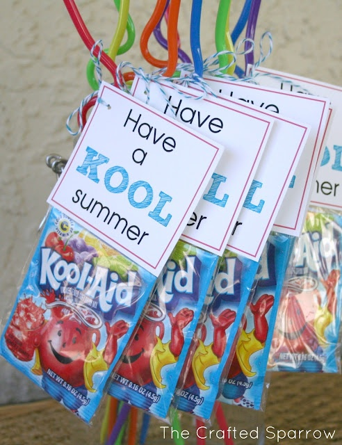 """The Crafted Sparrow: Have a """"Kool"""" Summer - End of Year Goodbye Gift for Classmates"""