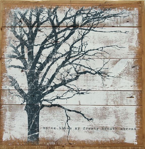 branches painted on wood plank background the play is the thing wood planks and