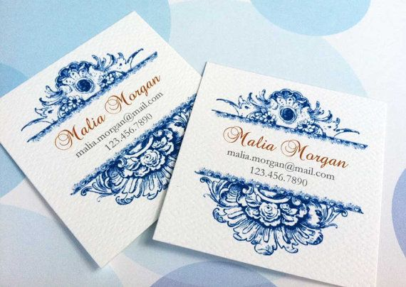Personalized Business Cards  Set of 48 by PikakePress on Etsy, $20.00