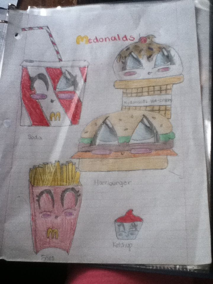I drew these fun2draw McDonald's food   tekening ...