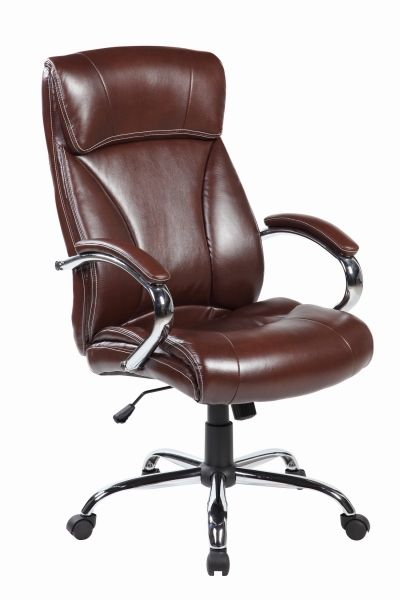 UOC High Back Leather Executive Ergonomic Office Desk Chair with Back Support and Arms
