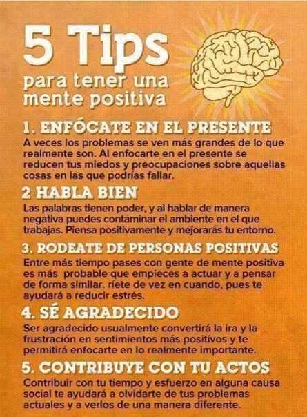 5 tips para una tener #Mente #Positiva. #Cerebro