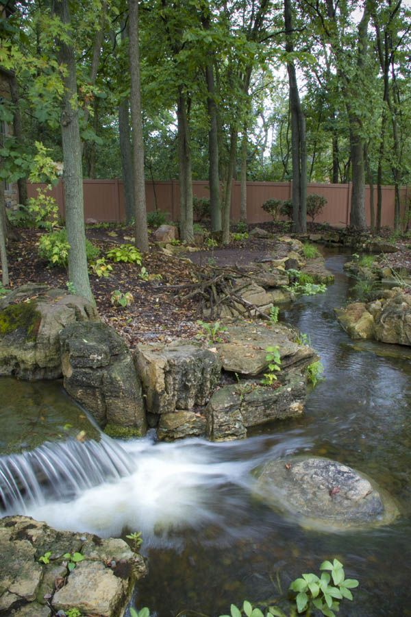 Expansive Waterfalls and Pond in Crown Point, Indiana ...