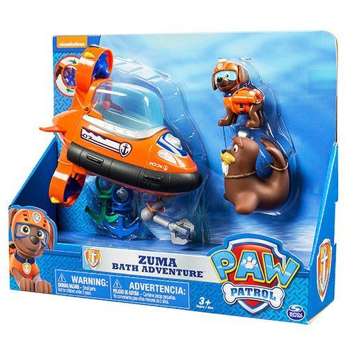 Paw Patrol Zuma's Bad Speelset  Beleef avonturen in bad met Zuma en zijn duikboot. De duikboot heeft een klauw om te helpen metspannende zelfverzonnen reddingsacties. InhoudZuma Sup Squirting Wally 2 ankers  EUR 30.95  Meer informatie