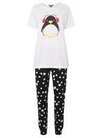 Womens **Tall Penguin PJ set- Black