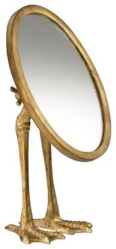 Duck-Leg Mirror - contemporary - makeup mirrors - Chachkies