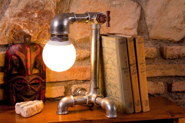 1000 imagens sobre apliques de pared no pinterest cubos industrial e oxfords - Lampara industrial vintage ...