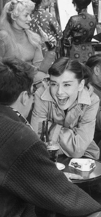 Audrey Hepburn, circa 1950. Love her.
