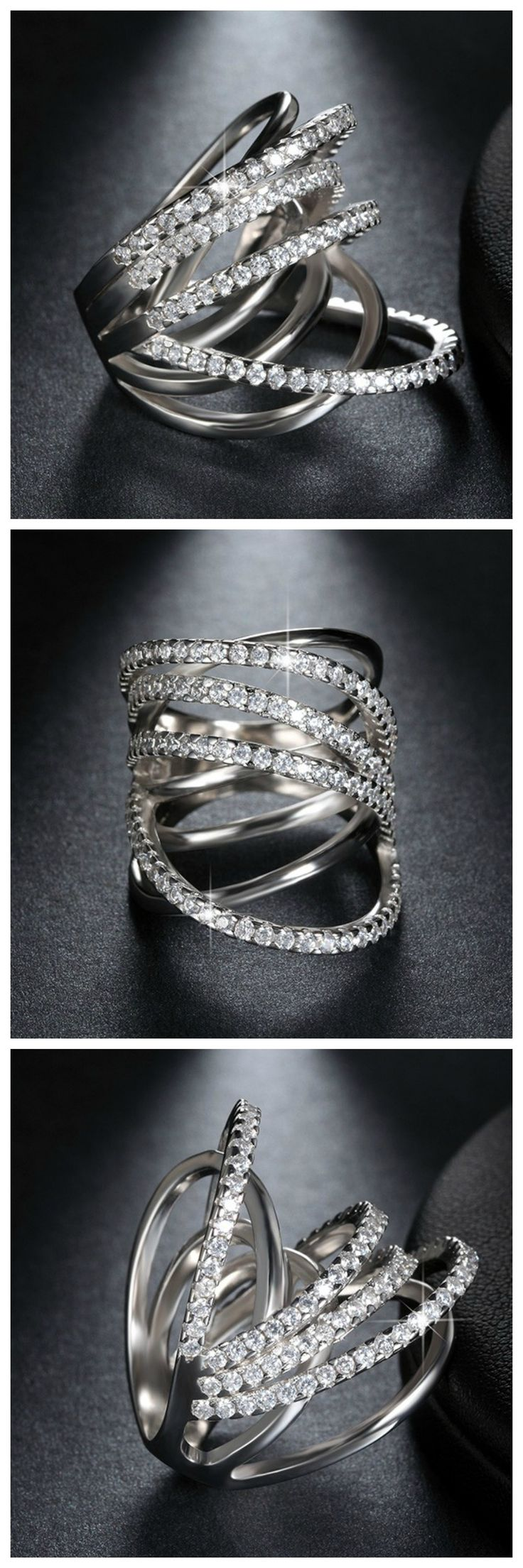 Ziphlets pave ribbon ring. Get 10% off with the code ZIPHLETS10