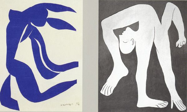 """""""Flowing Hair' by Matisse and """"Acrobat"""" by Picasso"""