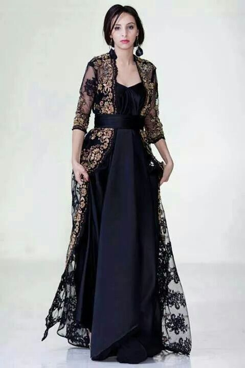 Black Moroccan Caftan Dress (2)