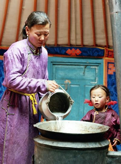 Inside a traditional #Mongolian #Ger                              …