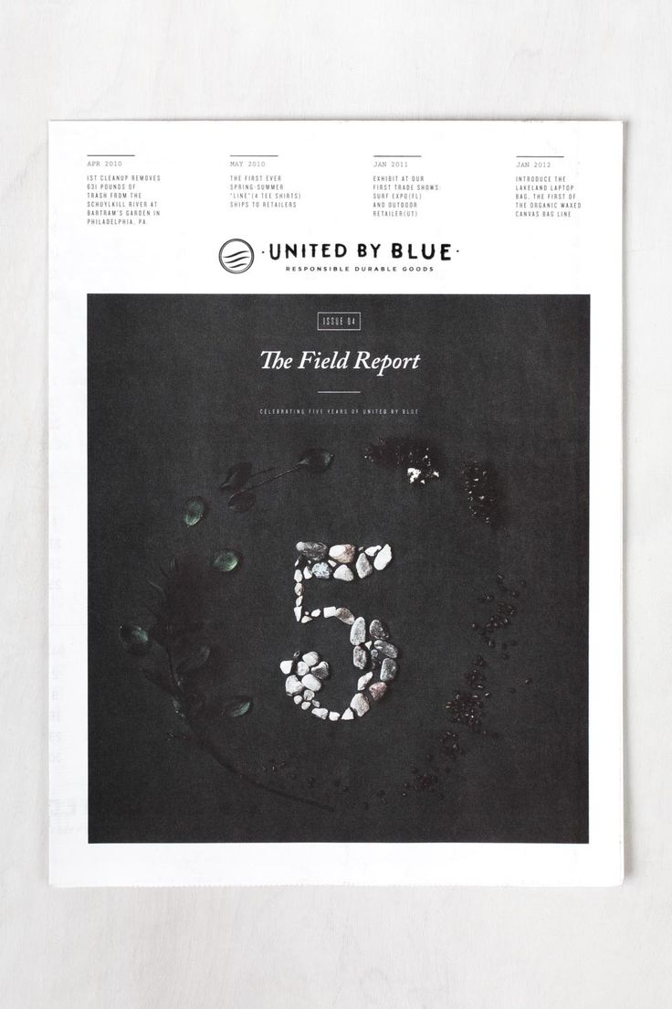 United by Blue // cover design