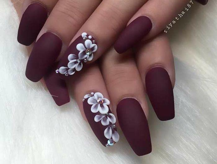 Tendance Vernis : ▷ 1001 + idées pour le nail art mat qui vont vous donner un…