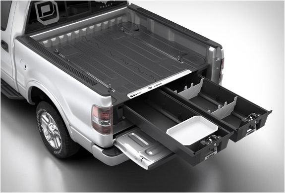 DECKED | TRUCK BED STORAGE SYSTEM | My father was ahead of his time.  We built one of these years ago.  Then he put a cap on top and slept in it!