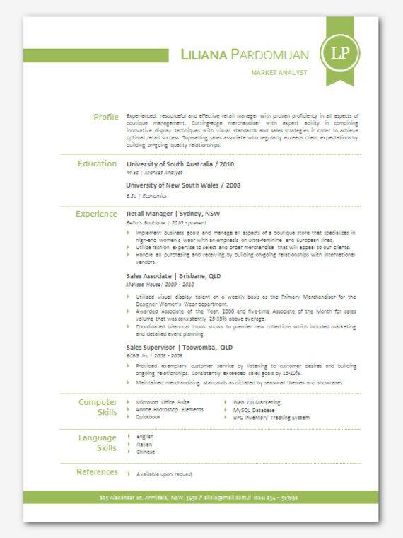 16 Best CV Templates Elegant Images On Pinterest Cv Template