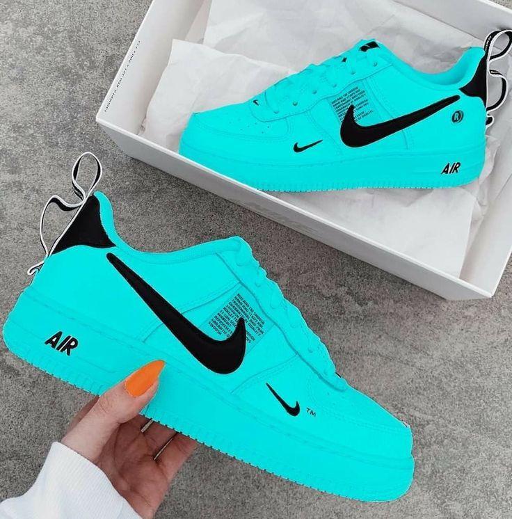 Neon blue nikes | Nike shoes blue