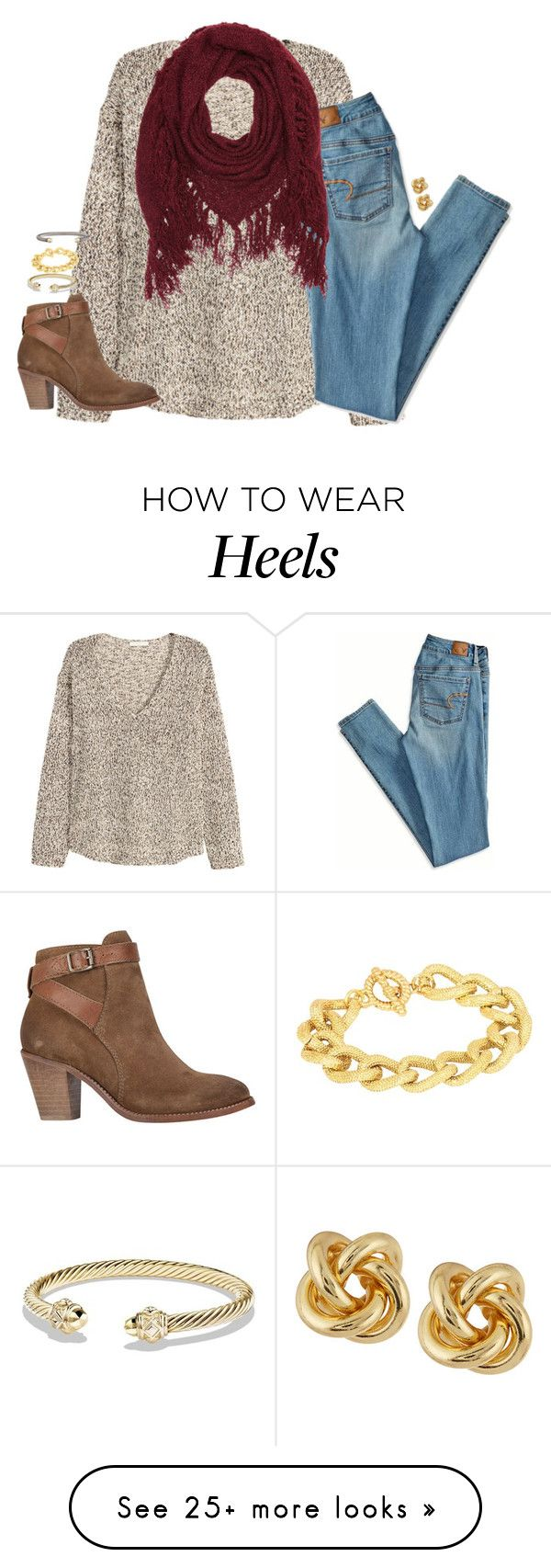 """""""hellooooo"""" by kaley-ii on Polyvore featuring H&M, American Eagle Outfitters, Charlotte Russe, H by Hudson, David Yurman, Adele Marie and R.J. Graziano"""