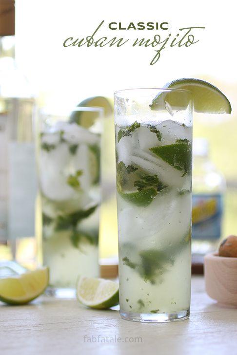 this classic cuban mojito defines summer in a glass http://www.fabfatale.com/2014/05/cuban-mojito-recipe/ #cocktail #recipe