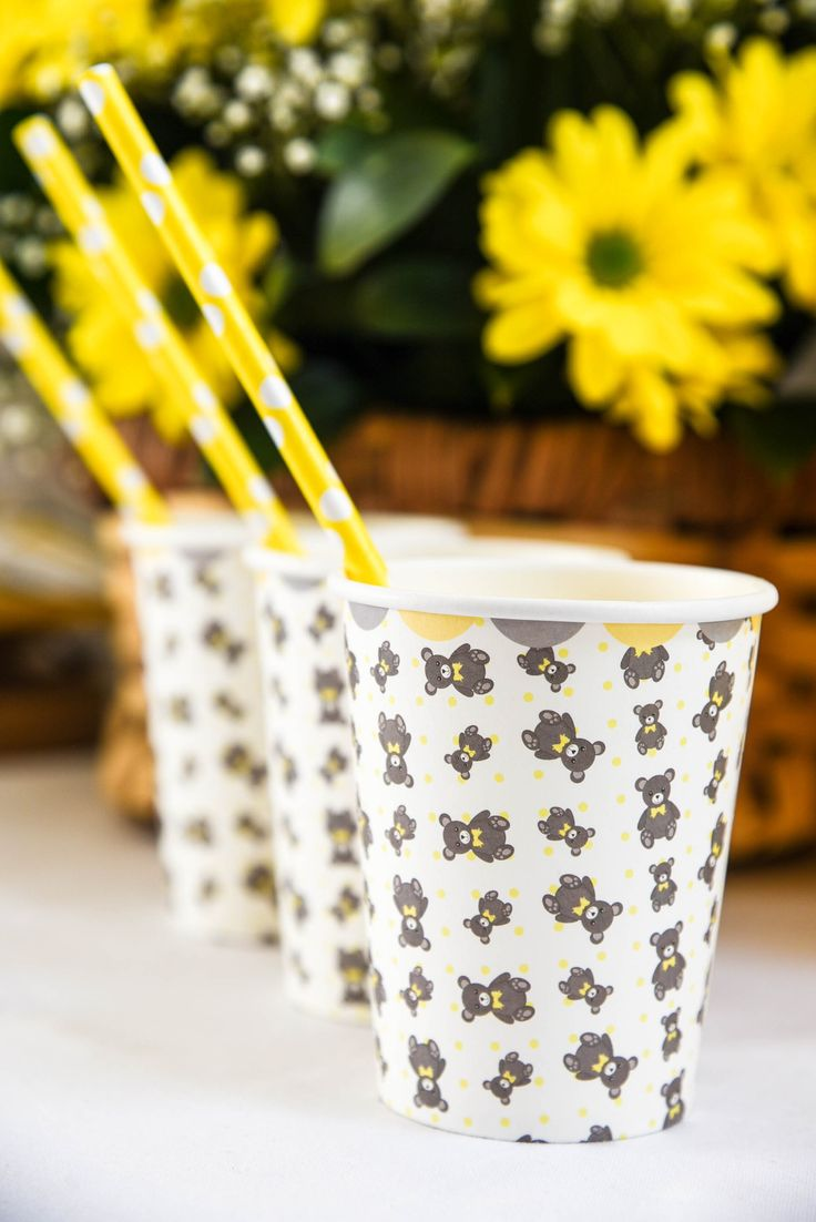 Teddy Bear Picnic paper cups by Hunters Rose