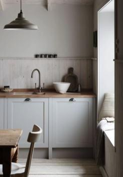 cocina actualizada con chalkpaint gris