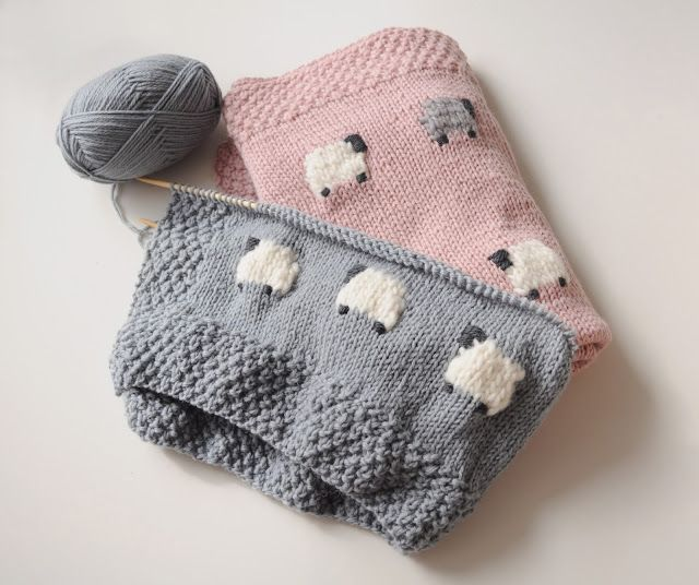 this sheep pattern for babies is so sweet! Photos by fieldguided, pattern in Precious Knit Blankies for Baby by Jean Adel