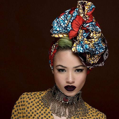 how to wear african head wraps