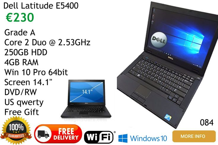 Dell Latitude E5400 Laptop Computer for sale free delivery mainland Spain, local pickups  Malaga area Frigiliana Nerja Torrox Competa