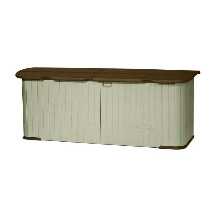 Suncast Multi-Purpose 3 ft. x 7 ft. 4 in. Resin Split Lid Storage Shed-GS17500DD - The Home Depot