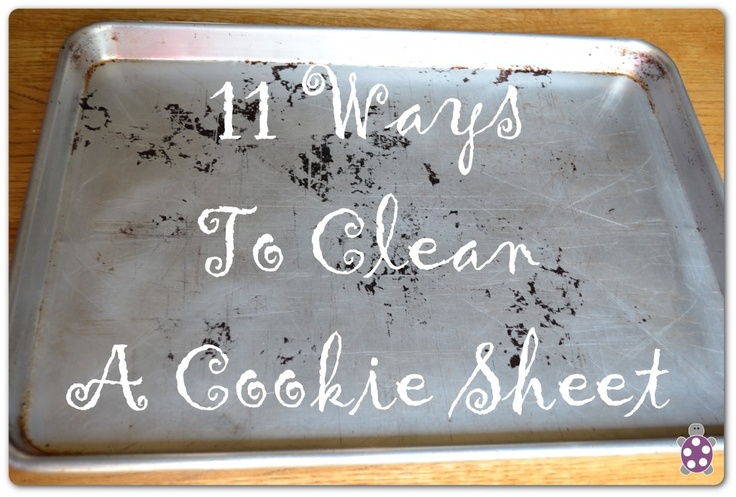 Look at this before trying the other pins that tell you how to clean a cookie sheet - a rundown of 11 different ways to clean, with the ones that work, and the ones that don't