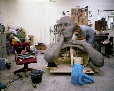 Ron Mueck in his studio.