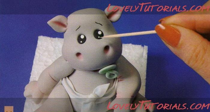 Hippo Cake Topper Tutorial