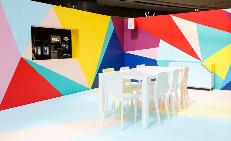 Day Three, vibrant colours and sharp geometry at The Colour Studio