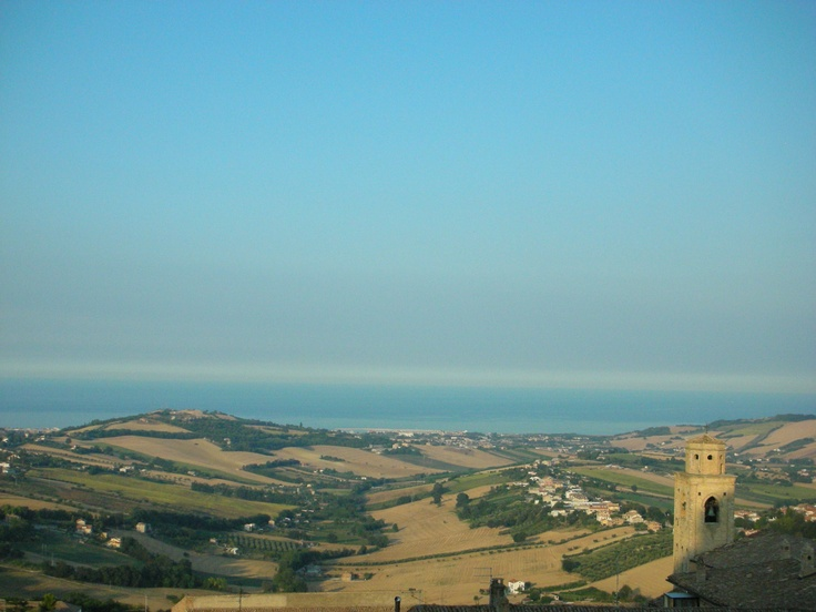 The sea from Fermo, Marche