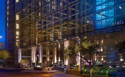 Omni Hotel.  Down town Austin, TX.  Close to the music.  Close to the food.  Very nice without being over the top.