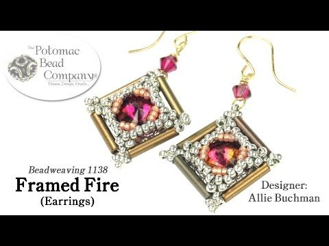 Framed Fire Earrings  (These are beautiful. I will try using twisted bugle beads on a pair. I bet they'll be gorgeous too.)