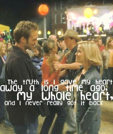 Sweet Home Alabama. The truth is I gave my heart away a long time ago, my whole heart, and I never really got it back.