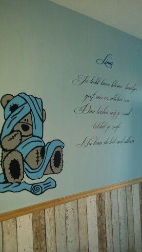 Mooie muursticker voor babykamer