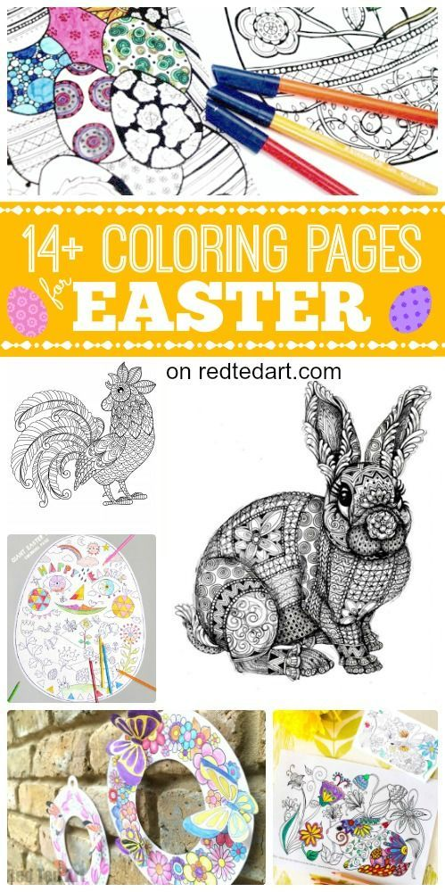 Free Coloring Pages for Easter. Love these gorgeous Easter Colouring Pages - from the fabulous Rooster Coloring Page to the hoppingly cute Grown up Bunny Coloring Page. Just stunning. Take a look at the 3D Spring Wreath and check out the bunny card printa